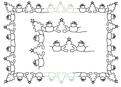 Snowmen Border and Corner - Digital CC-PANTO793_DIGITAL