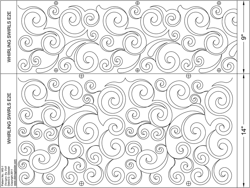 Whirling Swirls - Paper - Multiple Sizes DBD-WS-1
