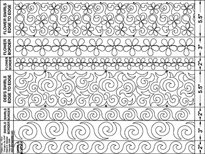 Flowers & Swirls - Multiple Sizes DBD-FS-2