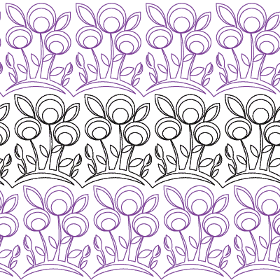 Modern Flowers Border - Digital NM-MF-B_DIGITAL
