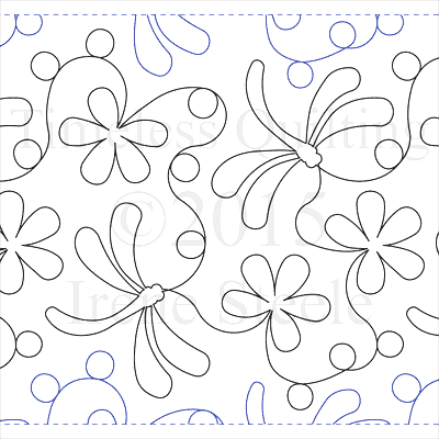 "Dragonfly Daisies - Paper -13"" W4-T-DFLYD"