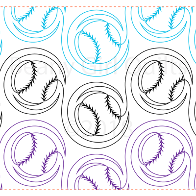 "Flying Baseballs - Paper - 11"" COPY-W1-BG-BAS"