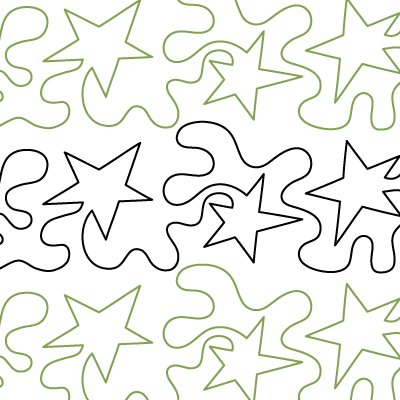 "Meandering Stars - Paper - 4.5"" QC-DS-MSS"