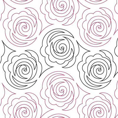 "Cabbage Rose- Paper - 10"" U10-SAM-CAR"