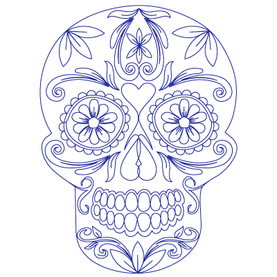 Sugar Skull - Digital SSC-SKL-BLK