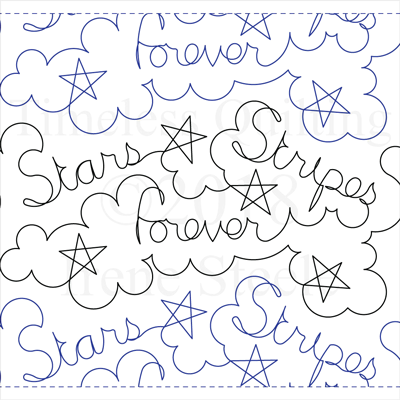 "Stars and Stripes Forever - Paper - 10"" W4-T-SSF"